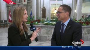 Finance minister defends Alberta budget