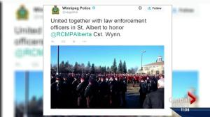 Outpouring of online support as Mounties across Canada honour Const. Wynn