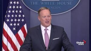 Sean Spicer makes light of dispute with media in White House briefing