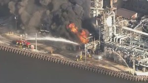 RAW: Crews battle oil refinery fire in Philadelphia