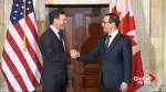 U.S. treasury secretary welcomes Canada's Morneau as first foreign visitor