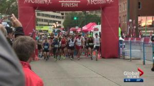 Edmonton Marathon's emergency procedures kick in after runner collapses