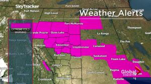 Alberta's capital and surrounding areas extremely cold Friday night