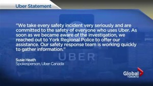 Woman allegedly sexually assaulted by Uber driver in Markham
