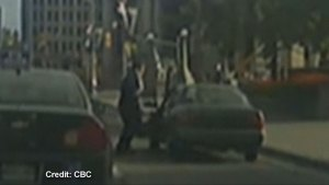 Dashcam video captures alleged Parliament Hill shooter