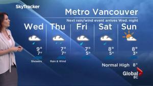 BC Evening Weather Forecast: Nov 22