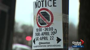 Confusion over parking ban during Oilers' games