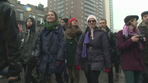 Raw video: Montreal student protest