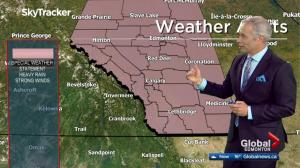 Abrupt change in the weather on the way for Alberta