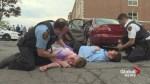 Violent crash simulation warns kids to drive safely