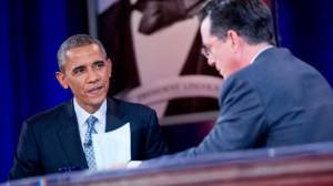 Obama talks Keystone XL on Colbert Report