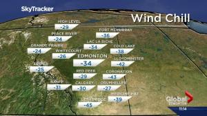 Extreme cold warnings issued for much of Alberta
