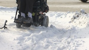 Wheelchair troubles during Winnipeg winters