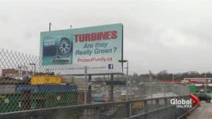 Citizens group puts tidal turbine concerns on billboard
