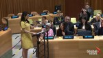 Amal Clooney delivers speech at UN demanding action against ISIS