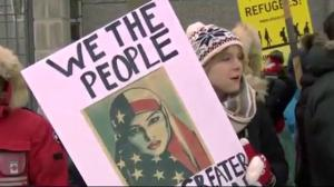 Canadians protest President Trumps Muslim travel ban