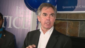 Jim Prentice addresses campaign supporters