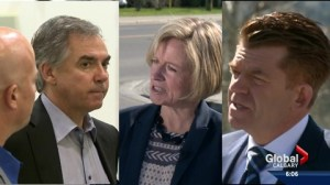 Alberta's 4 main party leaders vie for votes in Calgary, southern Alberta