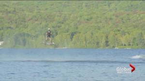 Montreal man's record hoverboard flight