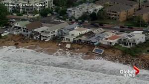 Massive waves damage homes, sweep away pool along Australia's east coast