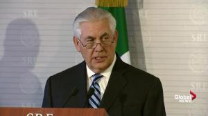 'From time to time we'll have differences:' Tillerson on U.S./Mexico relationship