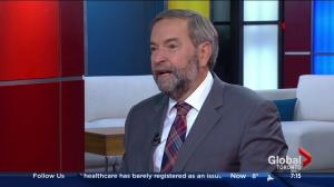 Mulcair discusses campaign hot issues on live television