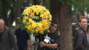 Flowers on Hollywood Walk of Fame misspell Leonard Nimoy's name as 'Leonard Nimo'