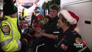 Sights and sounds from aboard the Candy Cane Lane Express