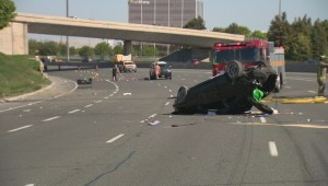 Vehicle collision leads to closure in the Southbound 404 lanes