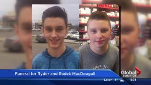 Ryder and Radek MacDougall Whitecourt funeral service