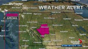 Air quality advisory remains in Edmonton Monday morning