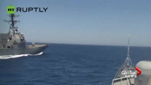 Russia accuses U.S. Navy ship of sailing dangerously close to its vessels