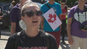Protest and Counter Protests at Vancouver's City Hall