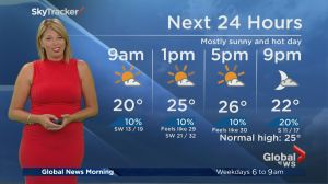 Global News Morning weather forecast: Monday, August 14