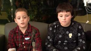 Boys rescued from inside snow bank describe their ordeal