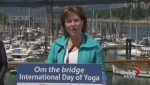 Yoga Day on Burrard Street Bridge
