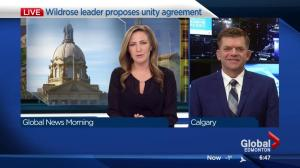 Wildrose leader Brian Jeans discusses potential unity agreement