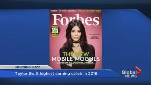 T-Swift top earning celeb in 2016