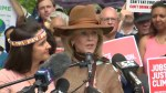 Jane Fonda attends Toronto climate change protest