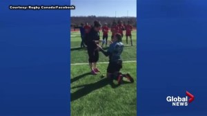 Ontario rugby player's proposal video goes viral