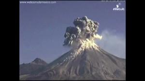 RAW: Colima volcano in Mexico spews ash