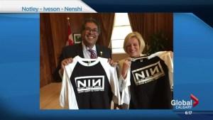 Trent Reznor writes Mayor Nenshi 'polite letter' over NIN logo t-shirts