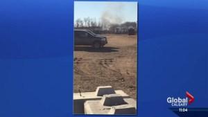 Man killed in tanker explosion near Red Deer, Alberta