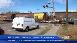 Rail crossing closure on century-old agreement
