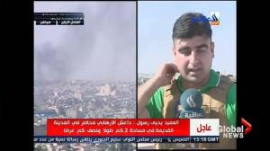 Local TV camera capture smoke, gunfire as battle for Mosul rages