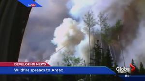 Webcam shows wildfire in Anzac