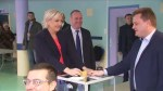 French presidential candidate Marine Le Pen casts her vote