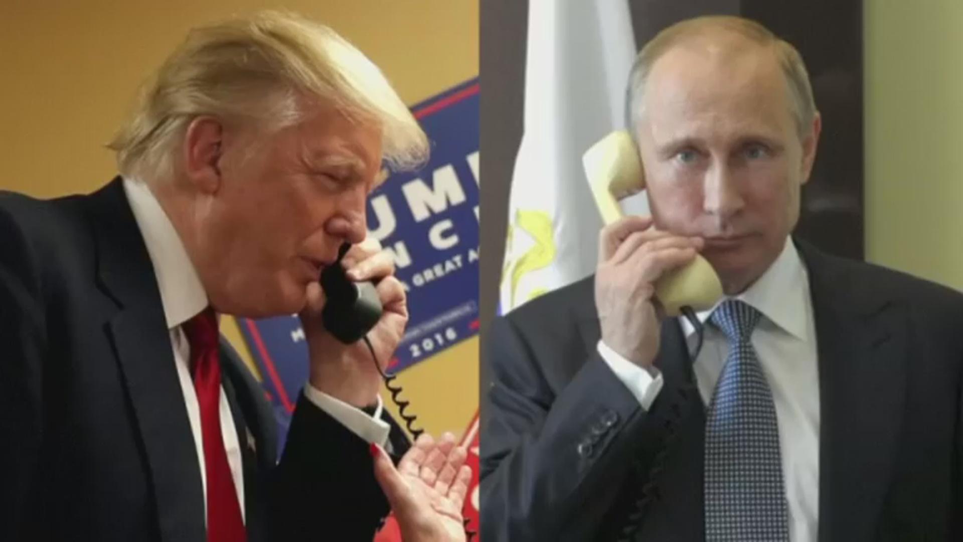 President Trump calls Russia's Vladimir Putin