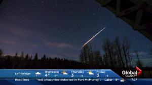 Fireball spotted west of Calgary