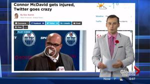 Connor McDavid gets injured, Twitter goes crazy